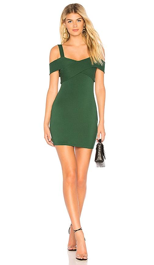 fb54938e057e by the way. Evie Cold Shoulder Mini Dress in Emerald | REVOLVE