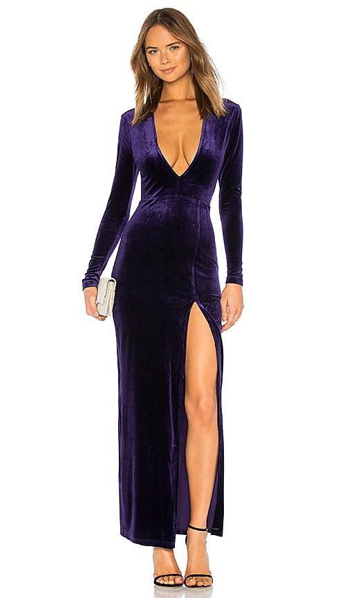 Miranda Deep V Maxi Dress