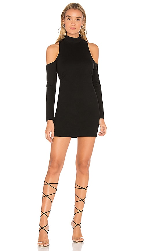 by the way. Noella Cold Shoulder Mini Dress in Black