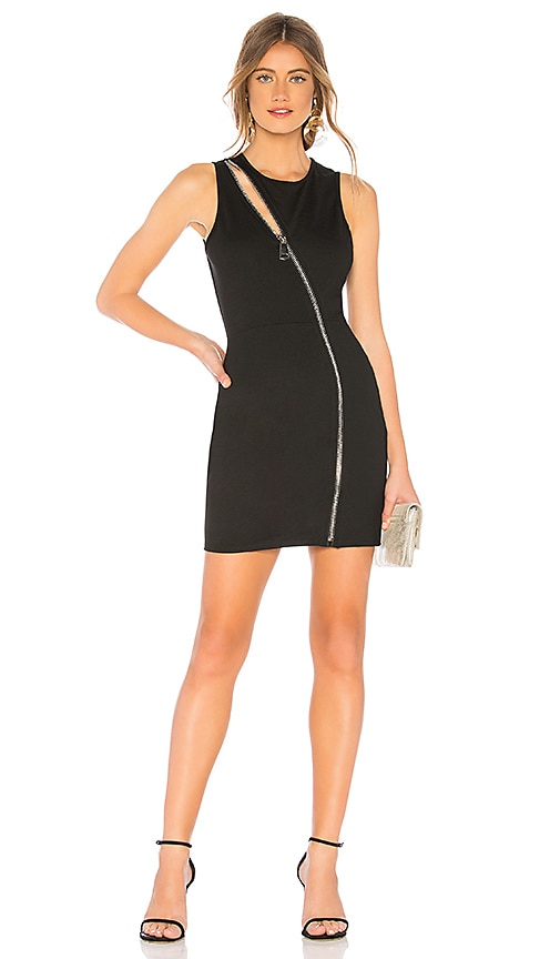 f57ad8e9cc by the way. Leslie Zip Front Mini Dress in Black | REVOLVE