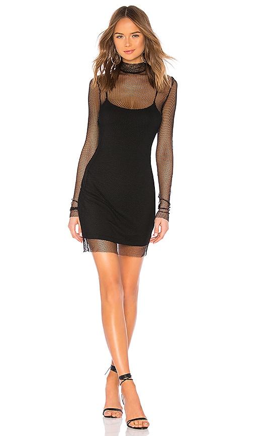 7f69b358b20 superdown Kacey Fishnet Dress in Black