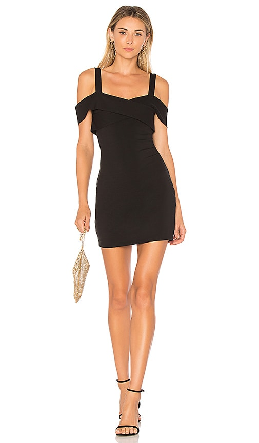 by the way. Evie Cold Shoulder Mini Dress in Black