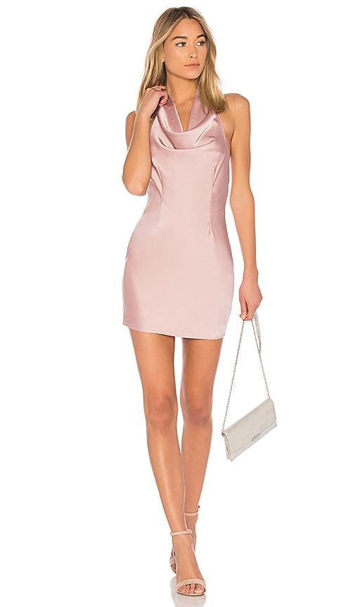 by the way. Stella Drape Satin Mini Dress in Blush