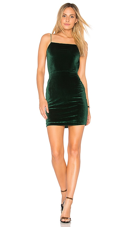 by the way. Miri Backless Mini Dress in Green