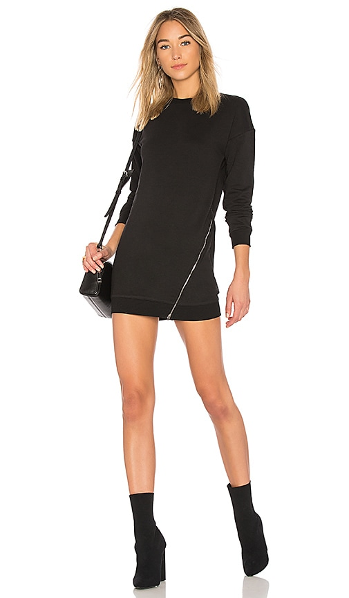 by the way. Tarina Zip Sweatshirt Dress in Black