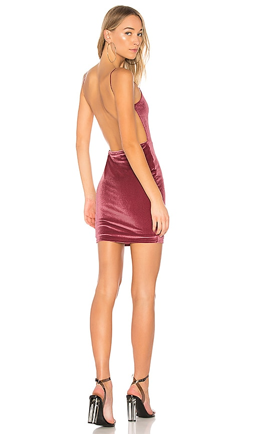 by the way. Miri Backless Mini Dress in Purple