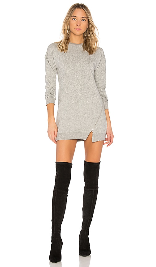 by the way. Tarina Zip Sweatshirt Dress in Gray