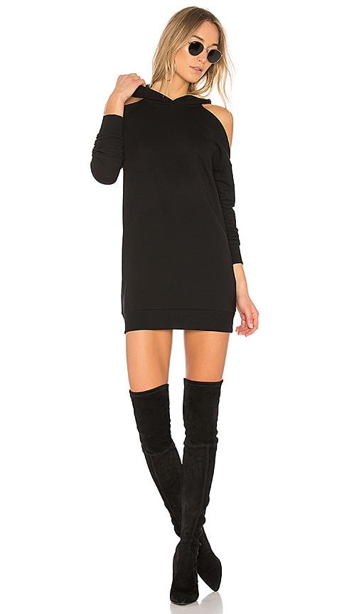Delia Cold Shoulder Sweatshirt Dress
