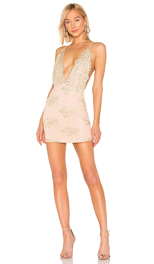 Gianna Deep V Mini Dress