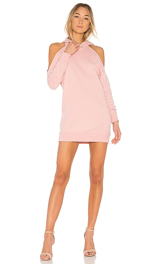 by the way. Delia Cold Shoulder Sweatshirt Dress in Pink