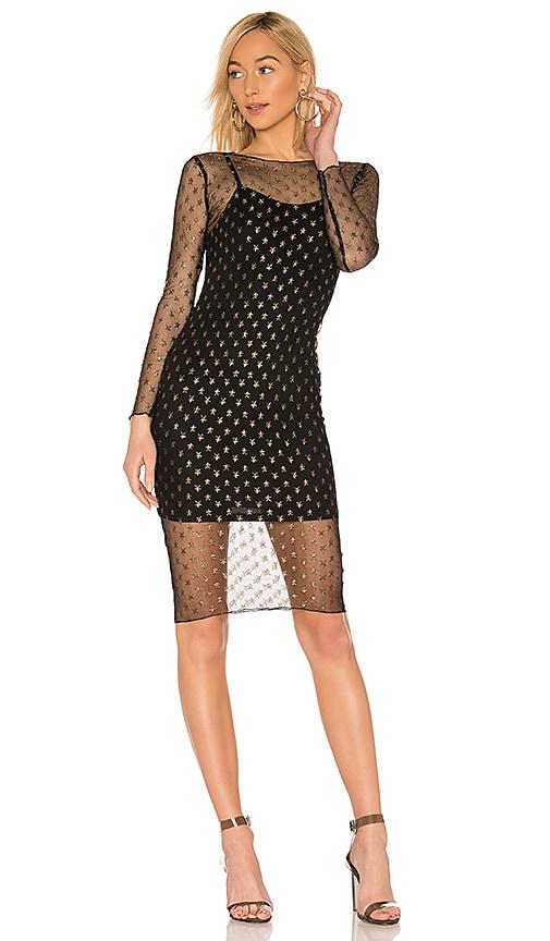 Jaymee Mesh Lurex Midi Dress