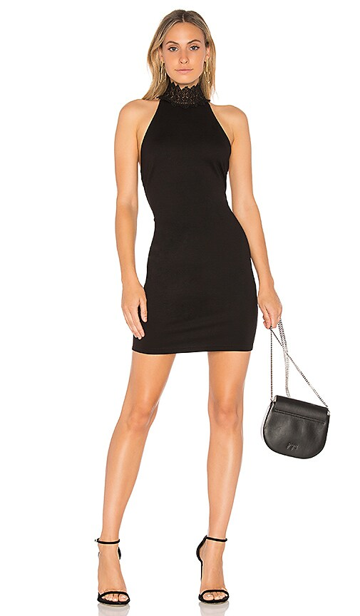 by the way. Elena Mini Dress in Black
