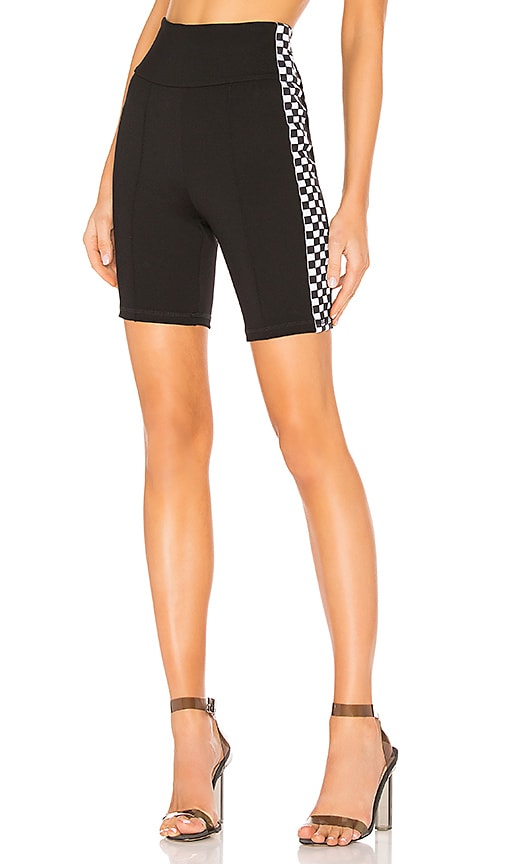 37f17743ab14b by the way. Sia Checker Side Stripe Biker Short in Black & White ...
