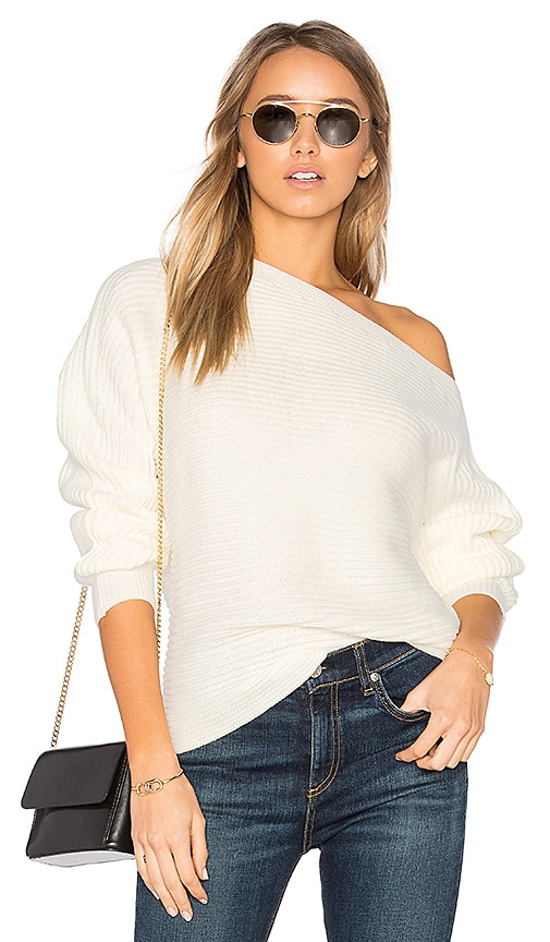 by the way. Kylie Off Shoulder Sweater in Cream