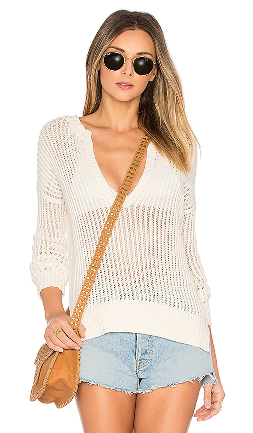 by the way. Pearl Open Knit Sweater in Ivory