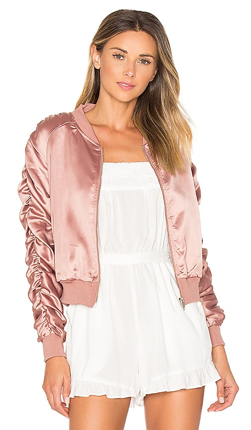 by the way. Zana Ruched Bomber in Pink