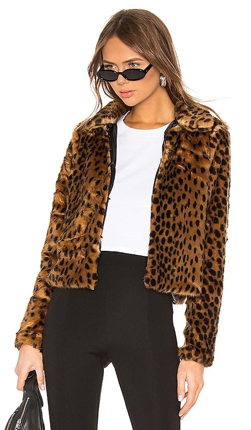 Casey Leopard Faux Fur Coat