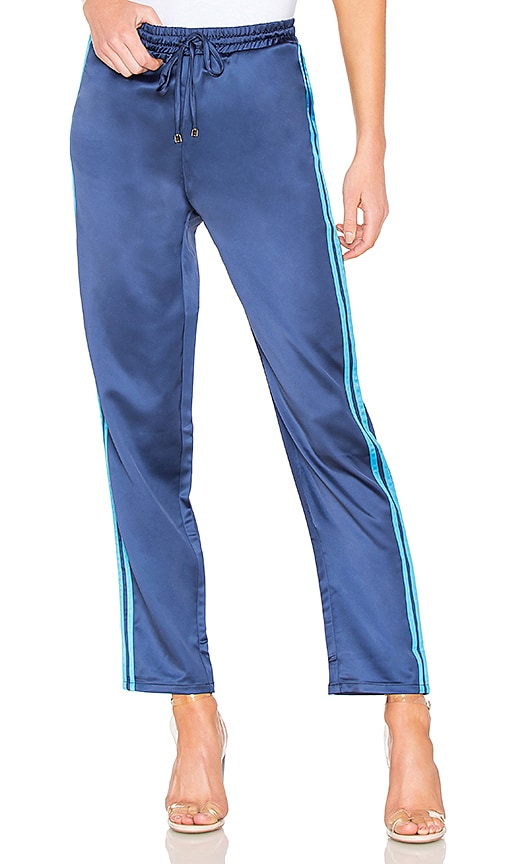 by the way. Kaya Side Stripe Track Pant in Navy