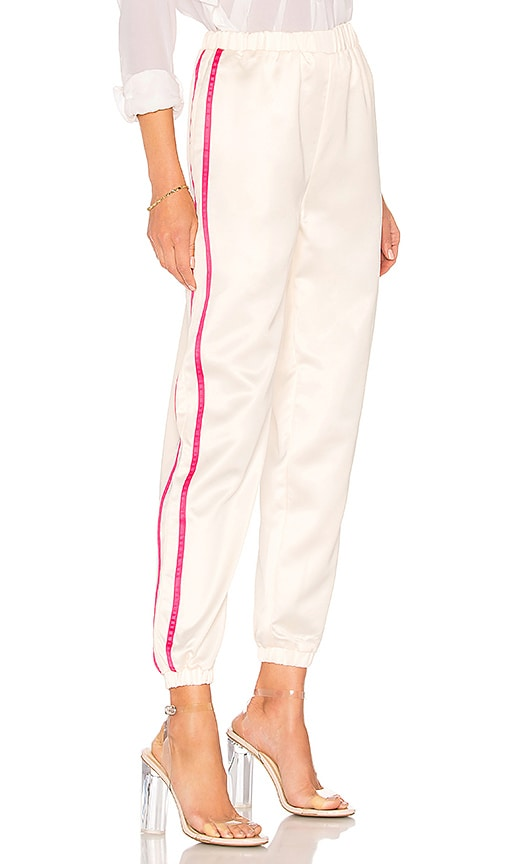 Nola Double Strip Track Pant in Mauve. - size M (also in L,S,XS) by the way.