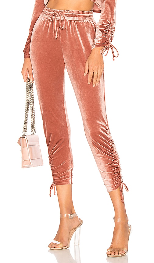 by the way. Behati Ruched Velour Jogger in Pink