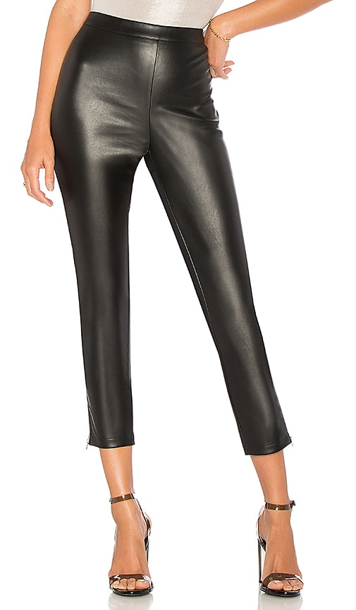 by the way. Nelly Side Zip Faux Leather Pant in Black