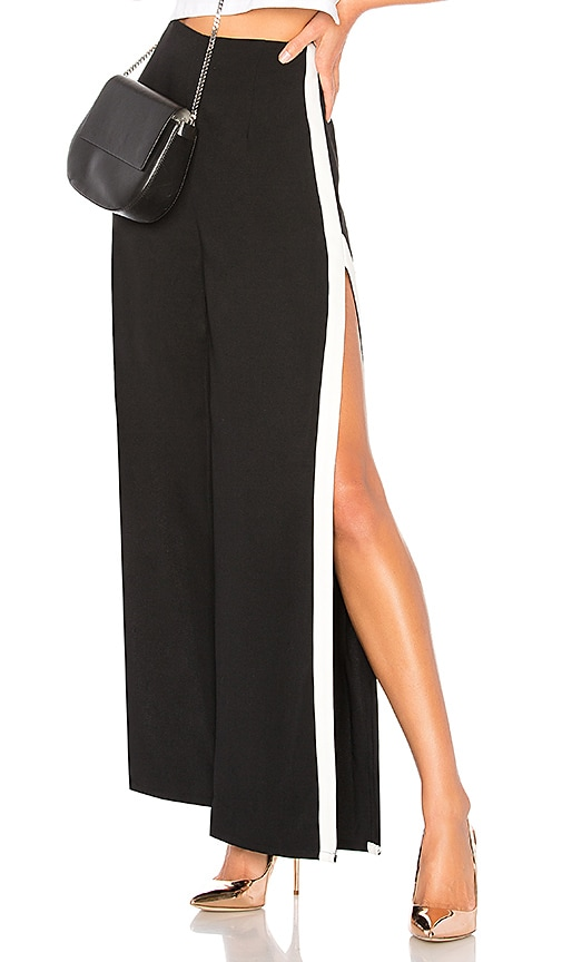 Rowshanda Side Slit Track Pant in Black. - size M (also in L,S,XS,XXS) by the way.