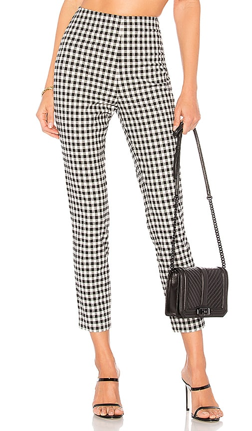 by the way. Dora Gingham Zip Pants in Black & White