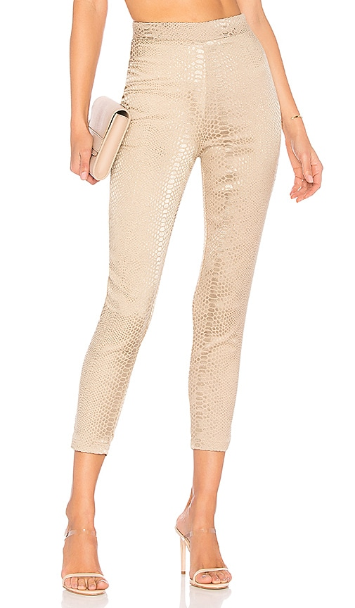 by the way. Kimberly Snakeskin Pants in Tan