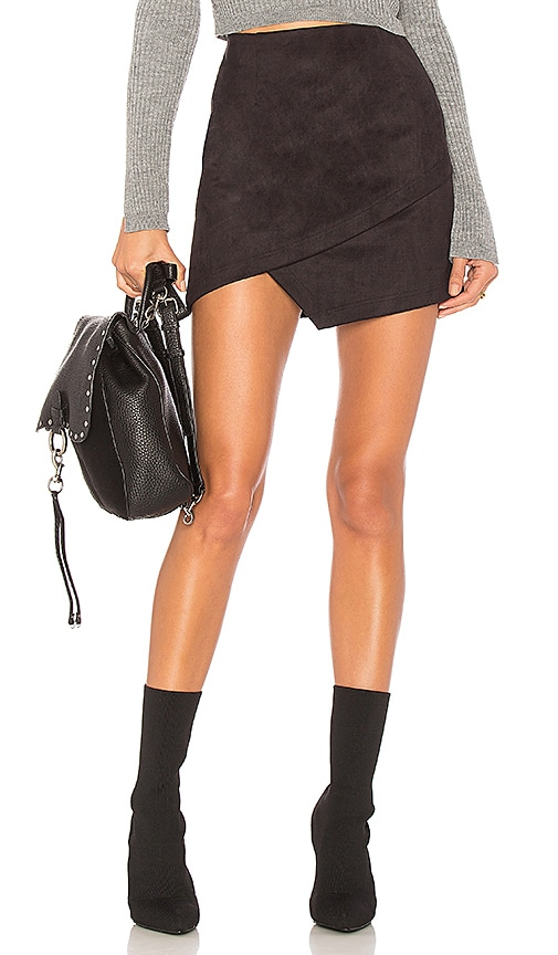 by the way. Saira Faux Suede Mini Skirt in Black