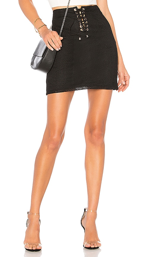 by the way. Karlie Mesh Lace Up Skirt in Black