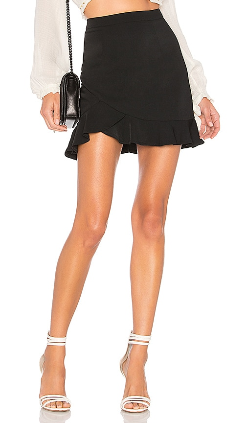 by the way. Milan Ruffle Mini Skirt in Black