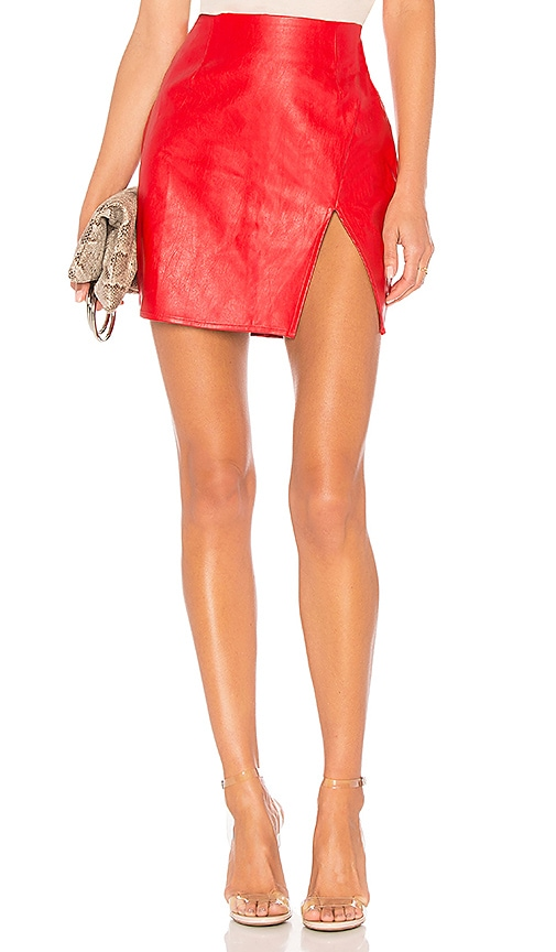 a2ac9d6c9778 superdown Trinity Faux Leather Skirt in Red | REVOLVE