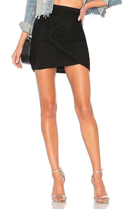 by the way. Kori Twist Mini Skirt in Black