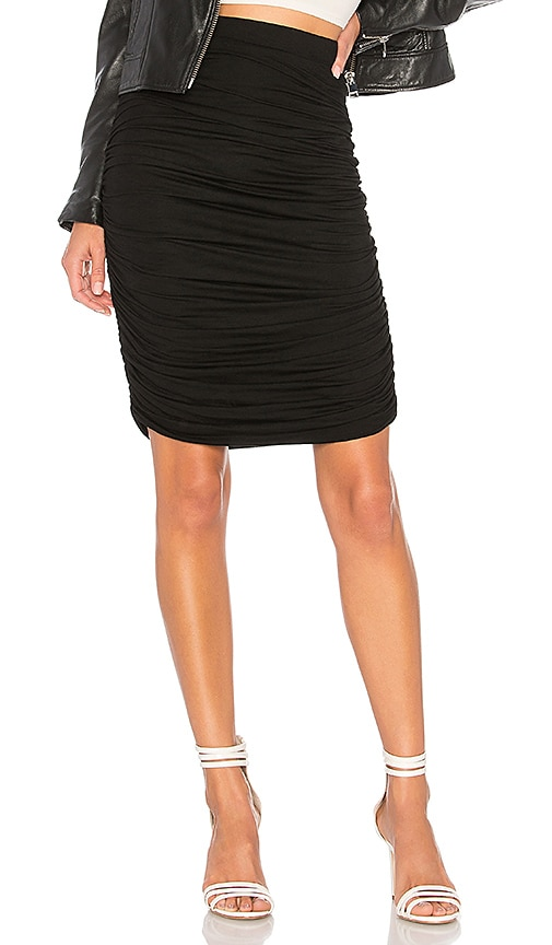 by the way. Tatiana Ruched Midi Skirt in Black