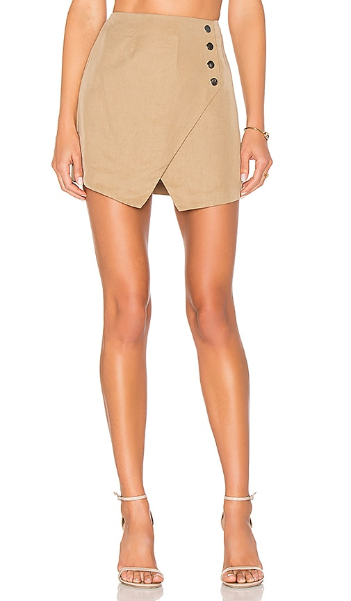 by the way. Scout Wrap Skirt in Beige