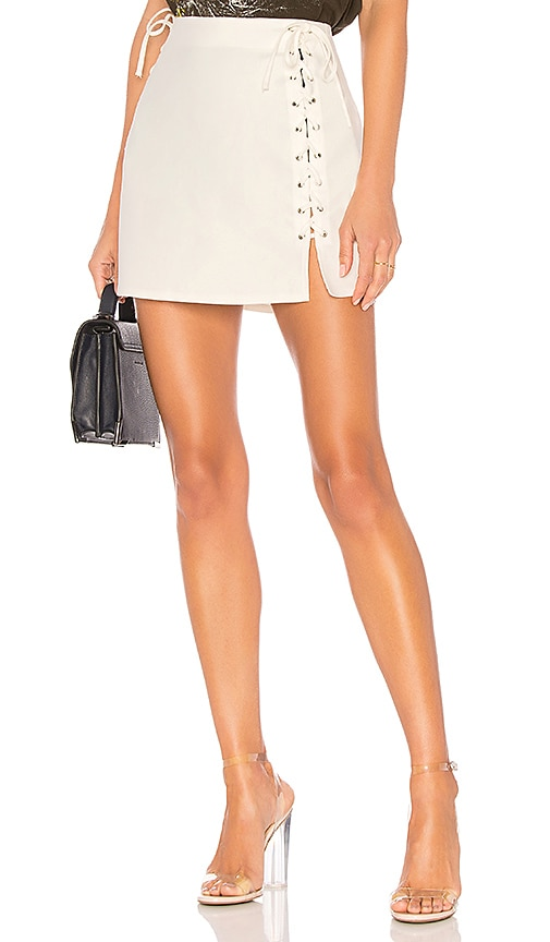 by the way. Lani Lace Up Skirt in White