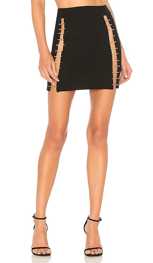 by the way. Arianna Rhinestone Mini Skirt in Black