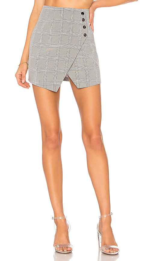 by the way. Anitta Wrap Skirt in Gray