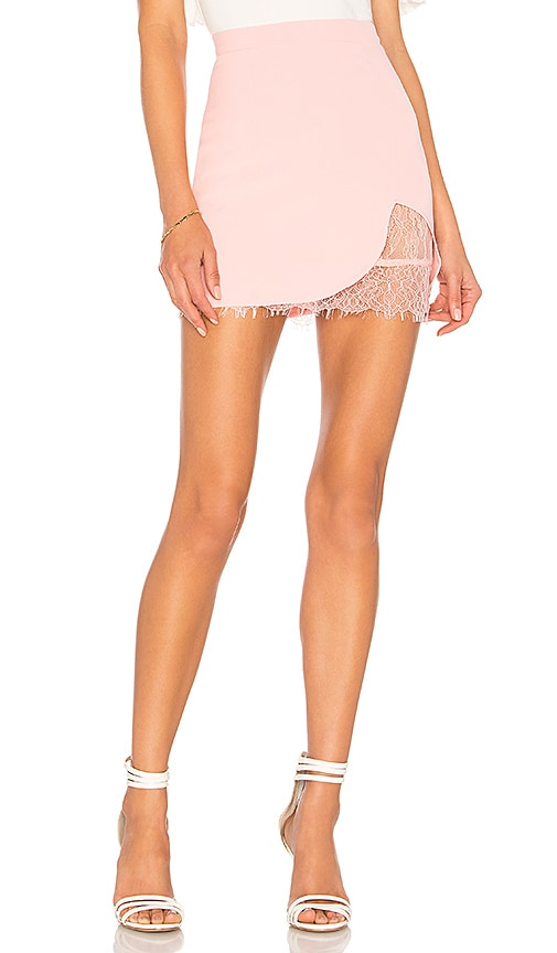by the way. Brianna Lace Skirt in Pink