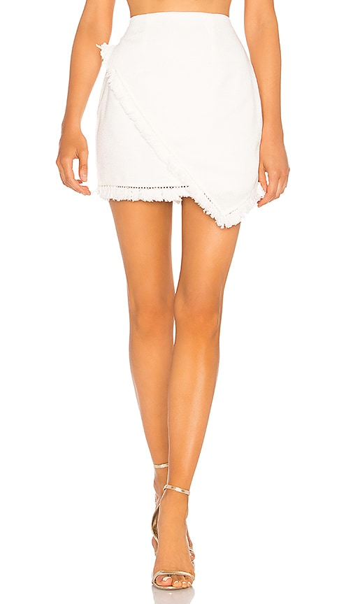 e51e7f0b8fc superdown Savana Frayed Hem Skirt in White