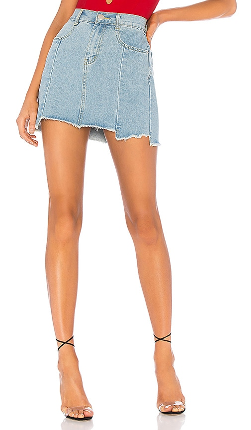 Heather Step Hem Denim Skirt. - size M (also in L,S,XS) by the way.