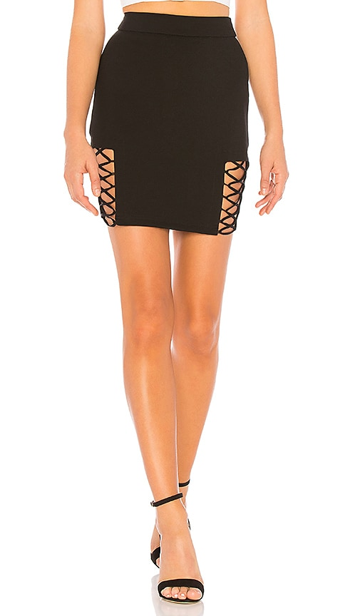 Imogen Lace Up Mini Skirt by By The Way.