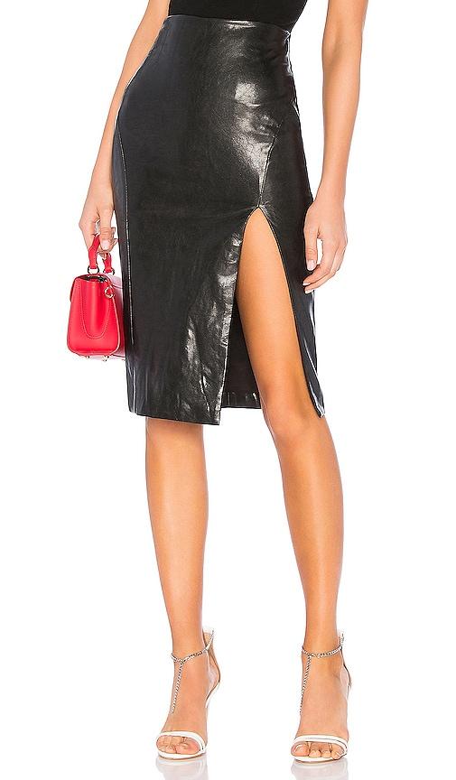 Jezabel Faux Leather Midi Skirt