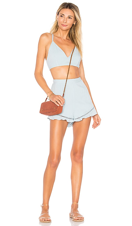 by the way. Tabitha Ruffle Short Set in Baby Blue