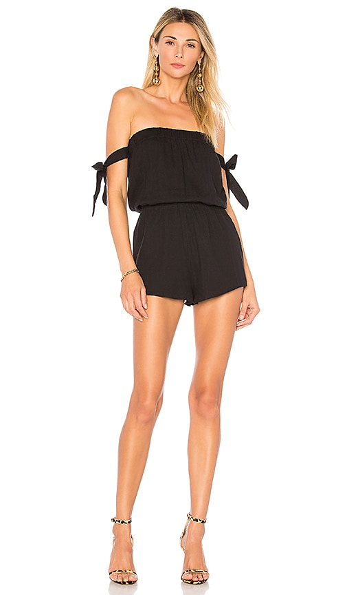 by the way. Ora Off Shoulder Romper in Black