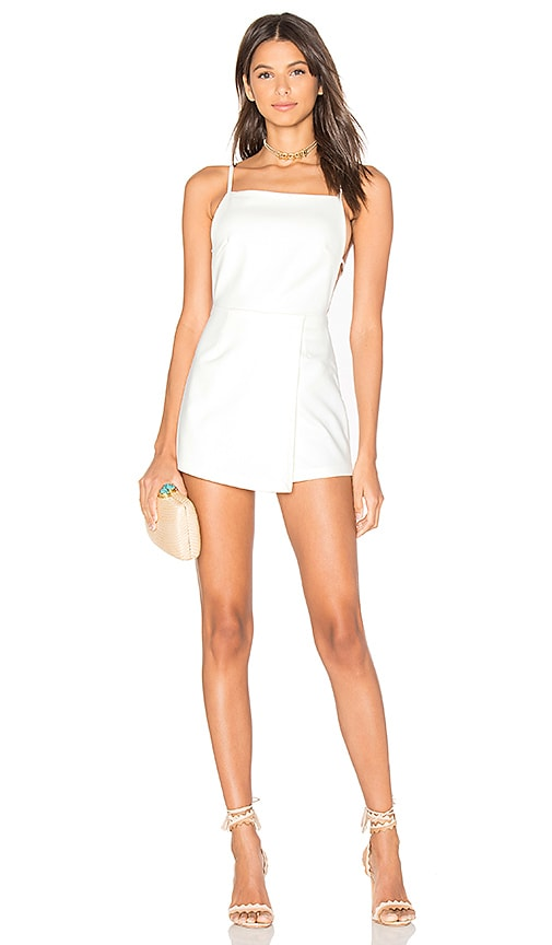 by the way. Veda Skort Romper in White