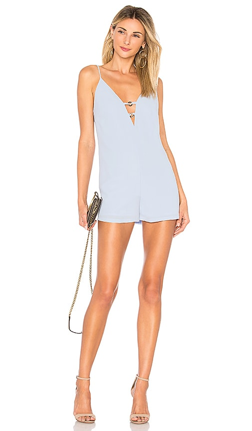 by the way. Kylan Double O Ring Romper in Blue