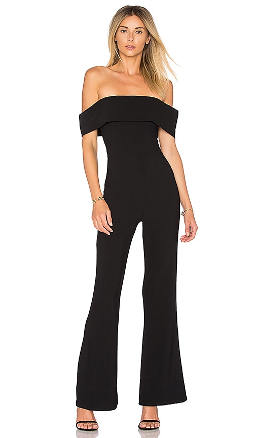 0f0075d63a superdown Aubrey Off Shoulder Jumpsuit in Black