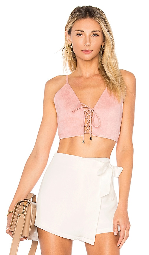 Crystal Faux Suede Top