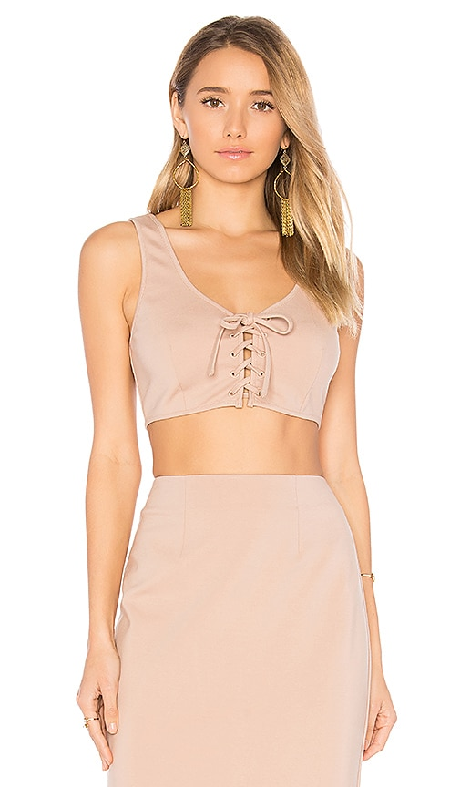 by the way. Gina Crop Top in Beige